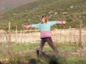 Emily below Capestrano